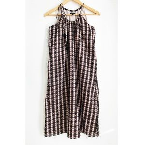J. CREW Cotton Drawstring Tribal Print Dress